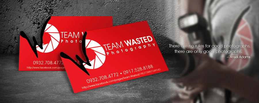TEAM WASTED Business Card by basurero712