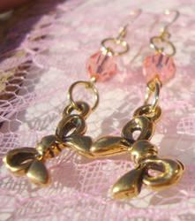 Sweet Lolita Gold-Filled Bow Earrings