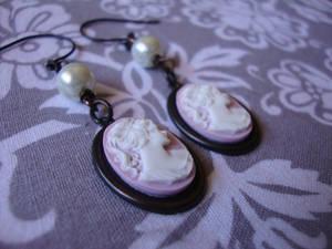 Elegant Lady Cameo Earrings