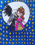 One Wing Night Angel's kiss by LovelyPrincessN64