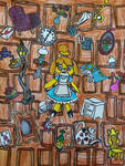Isabelle falling into the rabbit hole by LovelyPrincessN64