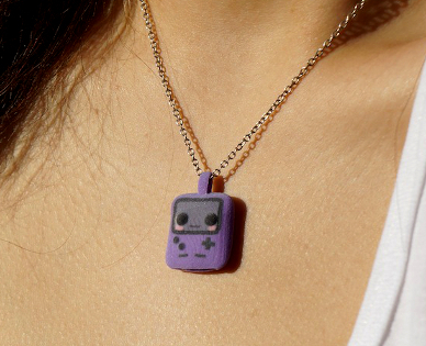 Gameboy Color Necklace [for sale] by TheWonderCat