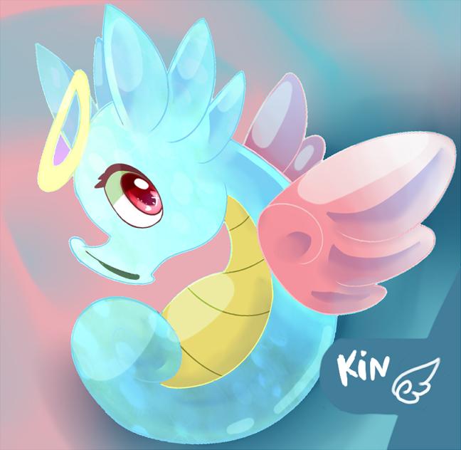 [OC] Kin - the winged horsea by Kspmill