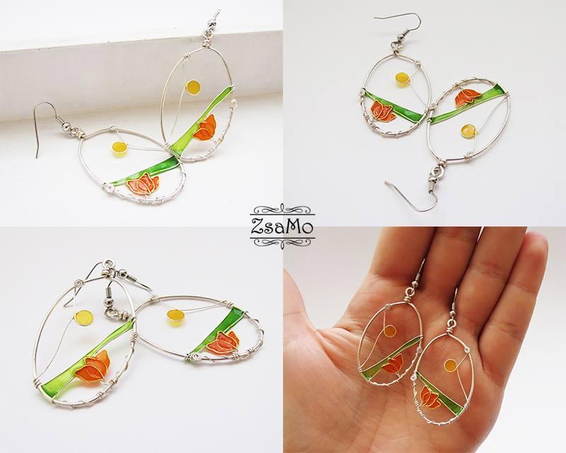 Fragile Flowers Earrings by Zsamo