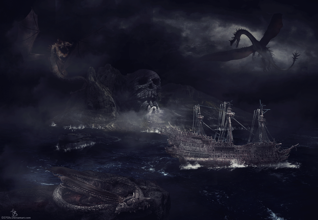 Lost in dragon's ocean by D27Gfx