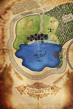 Map of Hogwarts Grounds and Environs
