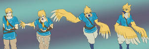BotW Link Rito Tg/Tf Sequence by undeadpenguin37