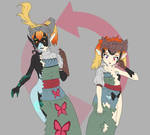 COMMISSION - Agitha and Midna Swap Tranformation by undeadpenguin37