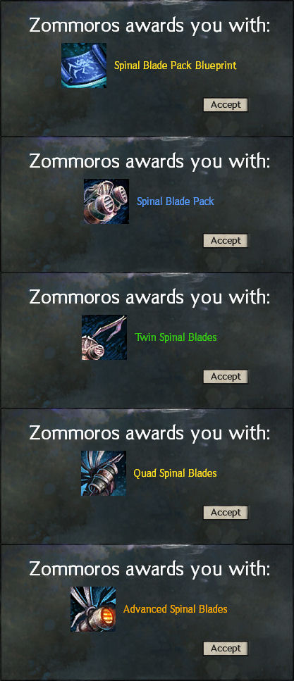 Spinal blade packs manufacture messages by guildwars 2 on deviantart spinal blade packs manufacture messages by guildwars 2 malvernweather Choice Image