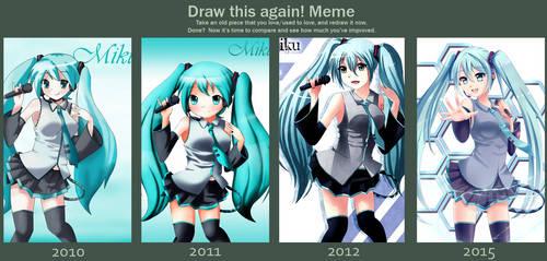Draw this again - Hatsune Miku by Ciapura