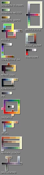 Pixel Art Palette Set