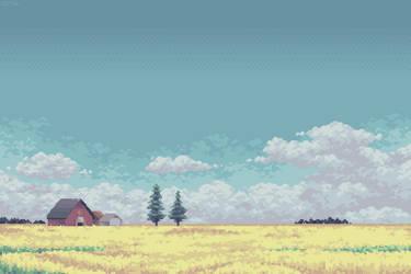 Under a Prairie Sky (8:1 Print)