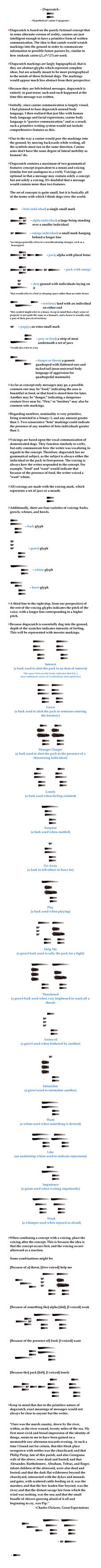 Dogscratch, a Canine Writing System