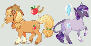 Applejack and Rarity