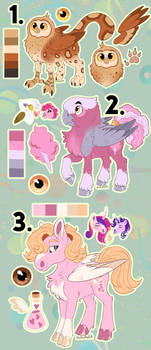 ADOPTABLE AUCTION: Birds and Pink