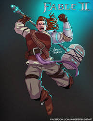 Fable 2 Hammer by annieawesomesauce