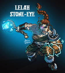 Lelah Stone-Eye Action Pose by annieawesomesauce
