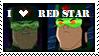 Red Star Stamp by Werevampiwolf