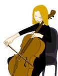 Blonde Cellist