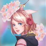 FF14 Pink Miqote Girl
