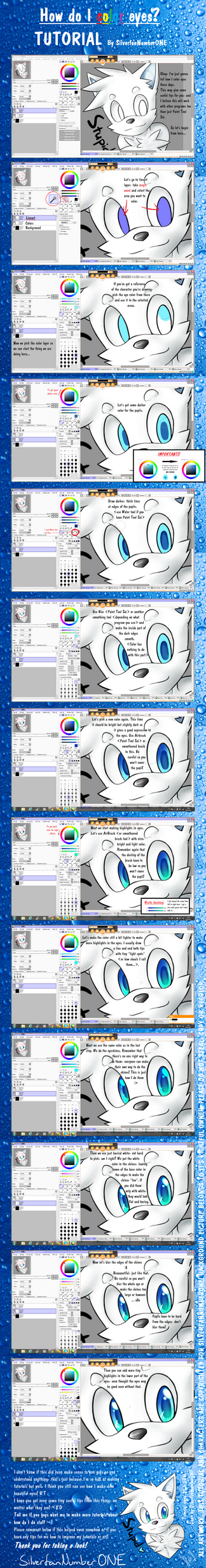 .:Tuto:. How do I color EYES? by SilverfanNumberONE