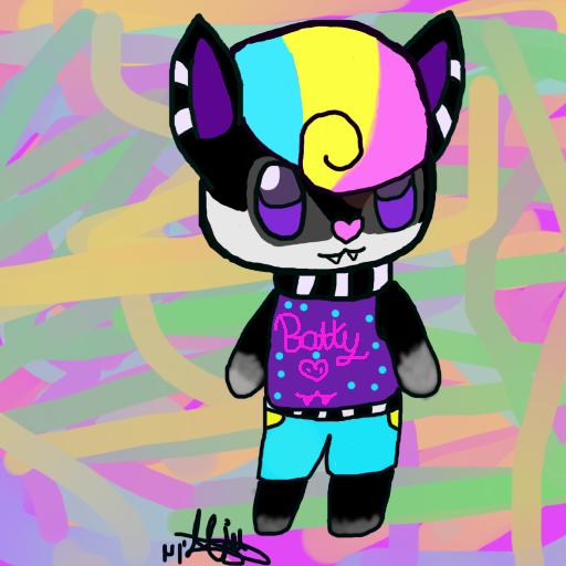 Tumblr mascot: Batty! by XNightdreamxDaymareX