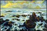Sea after rain by Mishelangello