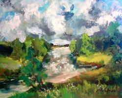 Summer river by Mishelangello