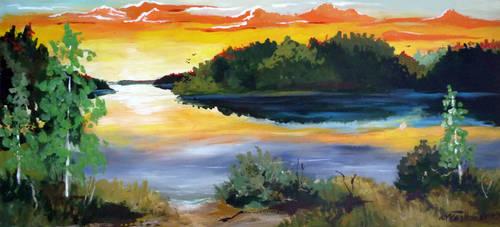 Summer lake by Mishelangello