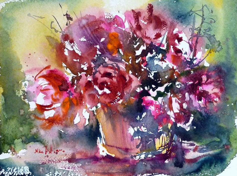 Basket of flowers by Mishelangello
