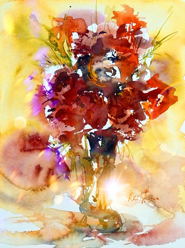 Red Bouquet by Mishelangello