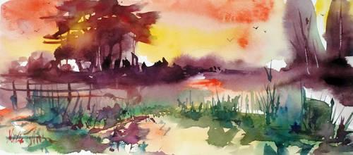 Summer sunset by Mishelangello