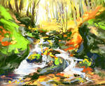 The wooded creek
