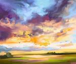 Cloudy evening