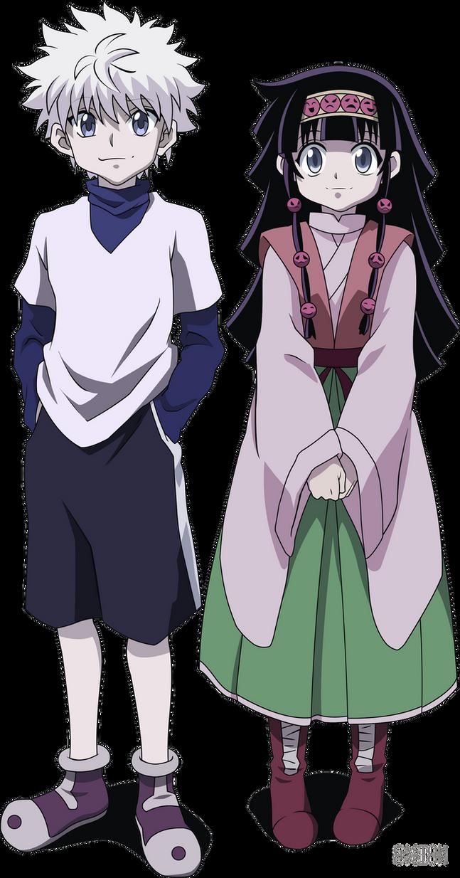 Killua and Alluka (Render #7) by gaston-gaston on DeviantArt Killua Hunter X Hunter Render