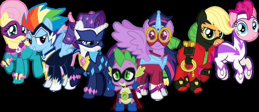 Power Ponies Names Photos My Little Pony Power Ponies Funko Mystery