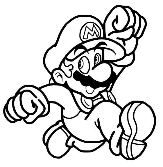Mario jumping coloring pages sketch coloring page for What color is mario