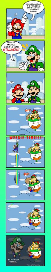 Mario, Grab His Stache