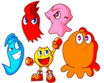 Pac-Man and Ghost Monsters