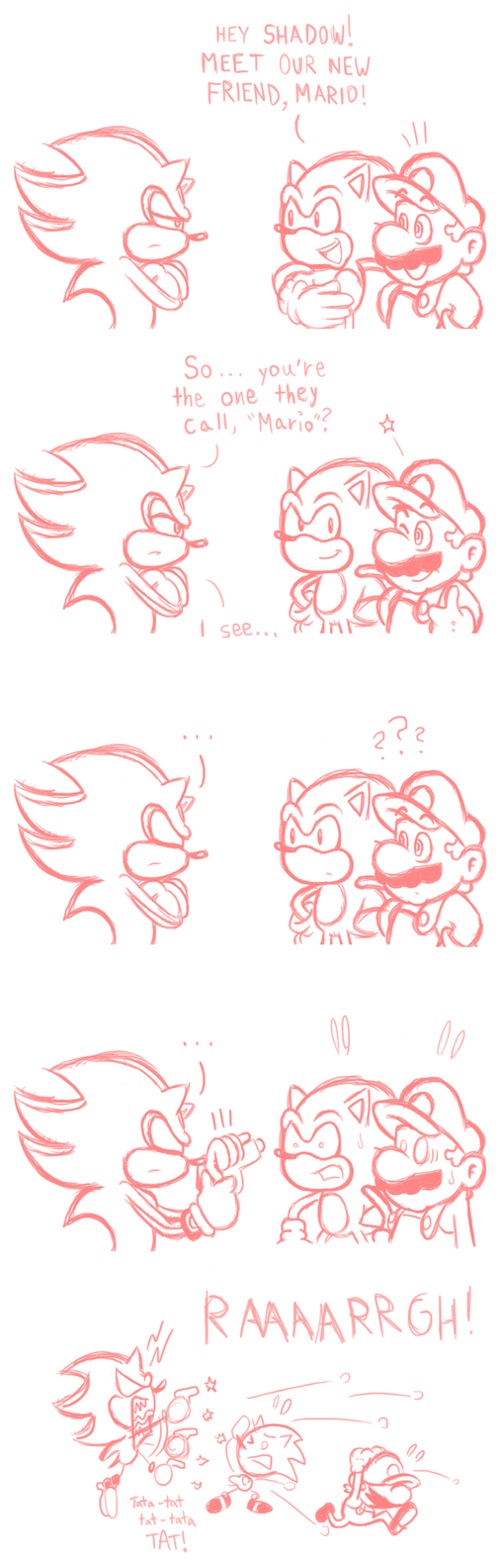 Mario and Sonic Comic - Shadow Instincts by JamesmanTheRegenold