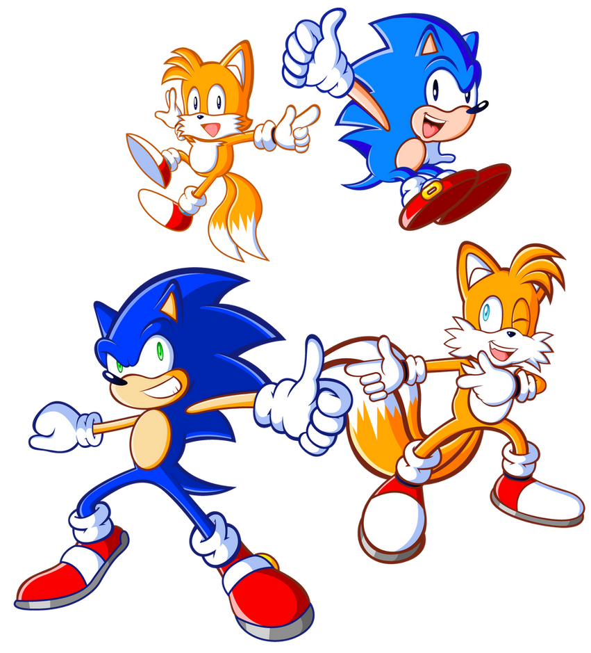 Sonic And Sonic And Tails And Tails By JamesmanTheRegenold