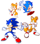 Sonic and Sonic and Tails and Tails