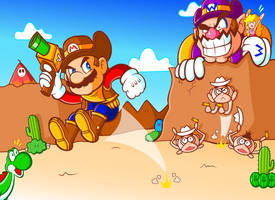 Sheriff Mario and the Wario Ruffians by JamesmanTheRegenold