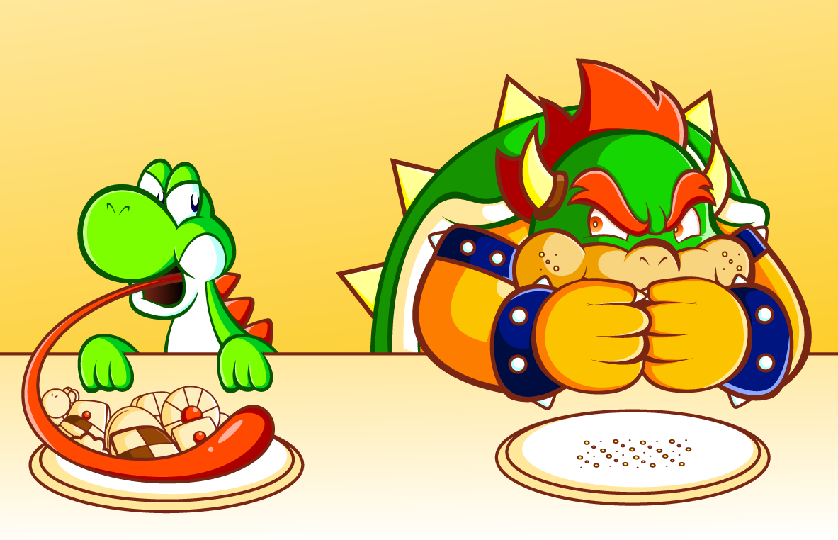 Mario  and friends  VS Bowser by JamesmanTheRegenold on deviantARTYoshi And Bowser