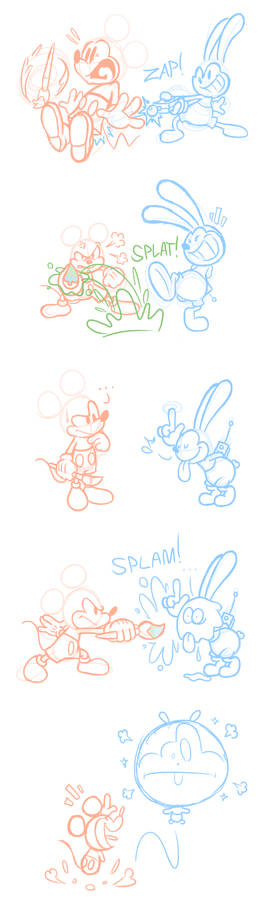 Epic Mickey 2 Comic - Battle of the Bros.