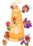 Mario - A Reunion at the Golden Statue by JamesmanTheRegenold