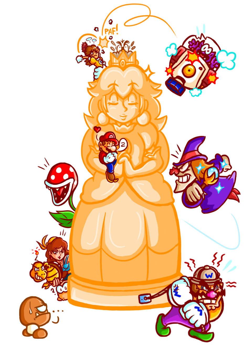 Mario - A Reunion at the Golden Statue