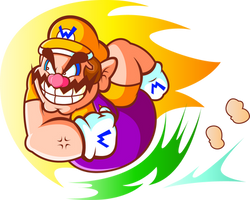 That Wario, he be Chargin' like a Chuck by JamesmanTheRegenold