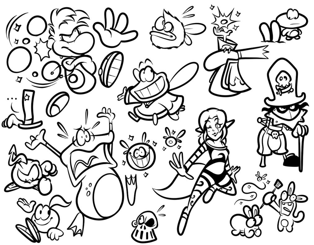 Sai Doodles Rayman By Jamesmantheregenold On Deviantart
