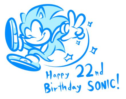 Happy 22nd Birthday Sonic by JamesmanTheRegenold